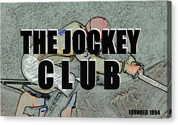 The Jockey Club Poster Phone A Canvas Print by David Lee Thompson