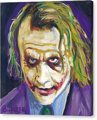 The Joker Canvas Print by Buffalo Bonker