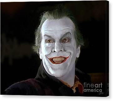 The Joker Canvas Print by Paul Tagliamonte