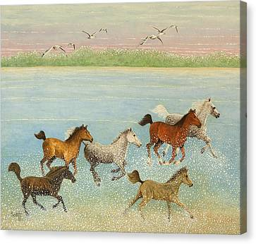 The Joy Of Freedom Canvas Print by Pat Scott