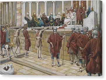The Judgement On The Gabbatha Canvas Print by Tissot