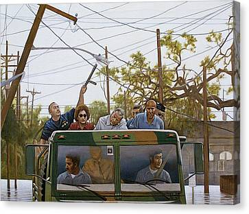 The Katrina Aftermath Canvas Print by Curtis James