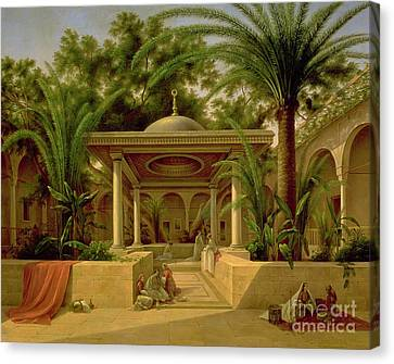 The Khabanija Fountain In Cairo Canvas Print by Grigory Tchernezov