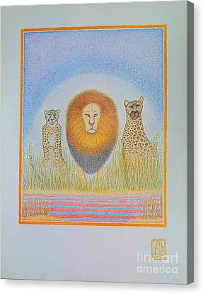 The Kings Canvas Print by Assumpta Tafari Tafrow Neo-Impressionist Works on Paper