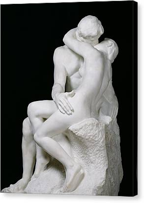 The Kiss Canvas Print by Auguste Rodin