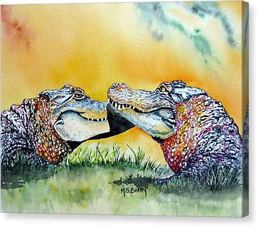 The Kiss Canvas Print by Maria Barry