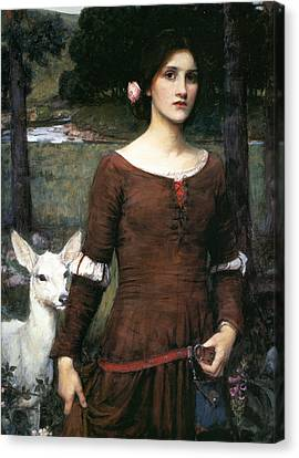 The Lady Clare Canvas Print by John William Waterhouse