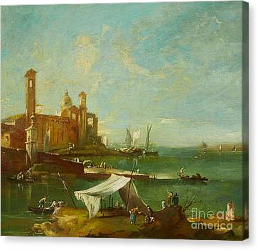 The Lagoon Of Venice Canvas Print by MotionAge Designs