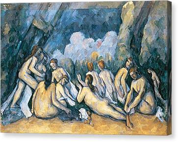 The Large Bathers Canvas Print by Paul Cezanne