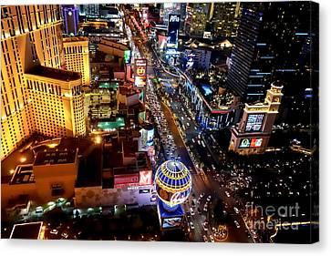 The Las Vegas Strip South Canvas Print by Anthony Sacco