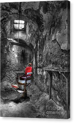The Last Cut- Barber Chair - Eastern State Penitentiary Canvas Print by Lee Dos Santos