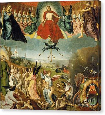 The Last Judgement Canvas Print by Jan II Provost