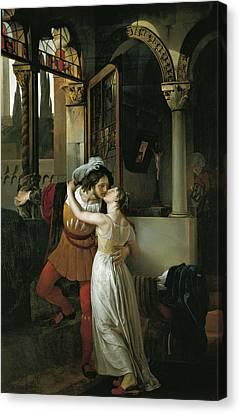 The Last Kiss Of Romeo And Juliet Canvas Print by Francesco Hayez