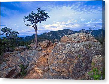 The Last Of The Sunset Canvas Print by James Steele