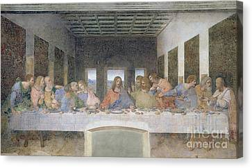 The Last Supper Canvas Print by Leonardo da Vinci