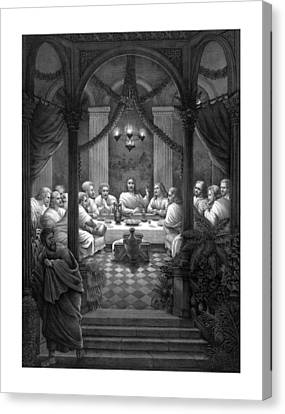The Last Supper Canvas Print by War Is Hell Store