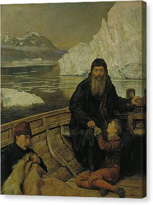 The Last Voyage Of Henry Hudson Canvas Print by John Collier