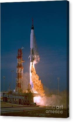 The Launch Of The Mercury Atlas Canvas Print by Stocktrek Images