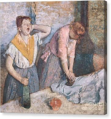 The Laundresses Canvas Print by Edgar Degas
