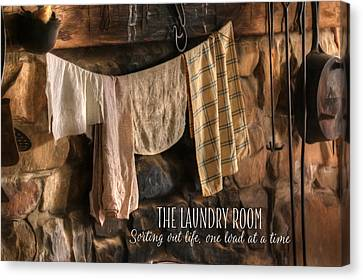 The Laundry Room Canvas Print by Lori Deiter