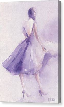The Lavender Dress Canvas Print by Beverly Brown Prints