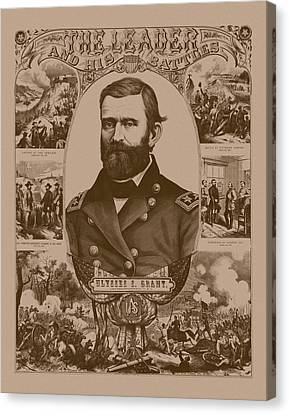 The Leader And His Battles - General Grant Canvas Print by War Is Hell Store