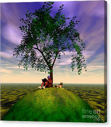 The Learning Tree Canvas Print by Walter Oliver Neal