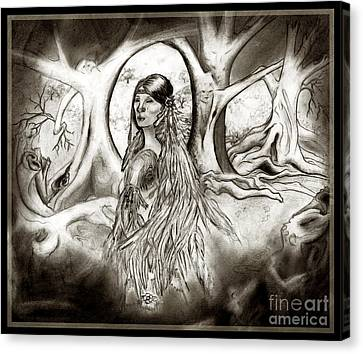 The Legend Of Cherokee Rose Trail Of Tears Canvas Print by Janice Moore