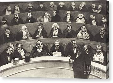 The Legislative Belly Canvas Print by Honore Daumier