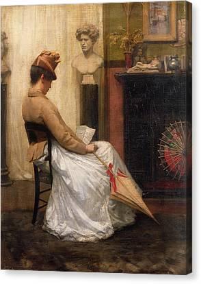 The Letter Canvas Print by Henry John Hudson