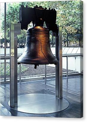 The Liberty Bell, On Display Canvas Print by Everett