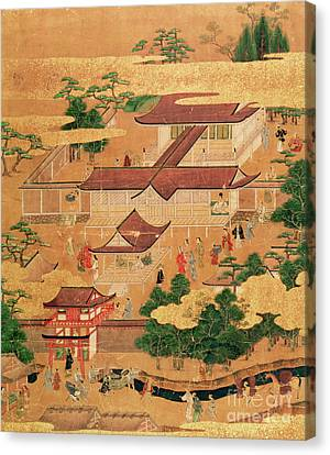 The Life And Pastimes Of The Japanese Court - Tosa School - Edo Period Canvas Print by Japanese School