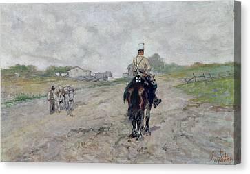 The Light Cavalryman Canvas Print by Giovanni Fattori