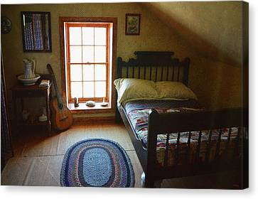 The Lighthouse Keepers Bedroom - San Diego Canvas Print by Glenn McCarthy Art and Photography