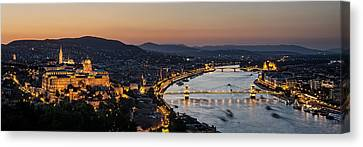 The Lights Of Budapest Canvas Print by Thomas D Morkeberg