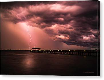 The Lightshow Canvas Print by Marvin Spates