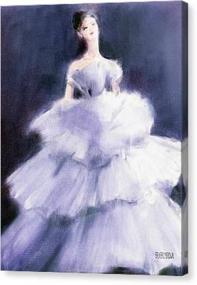 The Lilac Evening Dress Canvas Print by Beverly Brown Prints