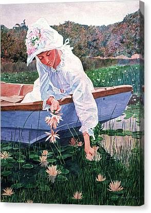 The Lily Gatherer Canvas Print by David Lloyd Glover