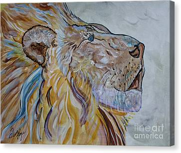 The Lion Call Canvas Print by Ella Kaye Dickey