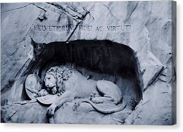 The Lion Of Lucerne Canvas Print by Dan Sproul