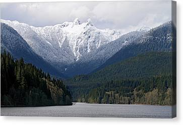 The Lions Mountain Vancouver Canvas Print by Pierre Leclerc Photography
