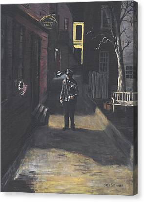 The Lonely Beat Canvas Print by Jack Skinner