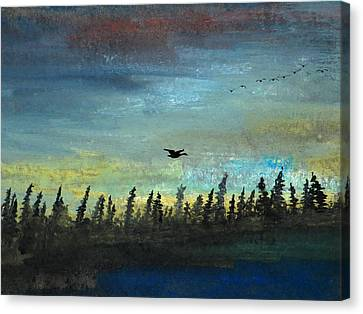 The Loner Canvas Print by R Kyllo