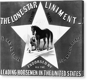 The Lonestar Liniment Canvas Print by Digital Reproductions