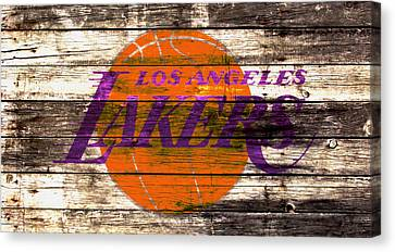 The Los Angeles Lakers 2w Canvas Print by Brian Reaves