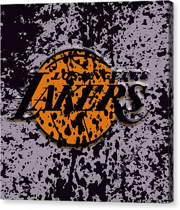The Los Angeles Lakers B2a Canvas Print by Brian Reaves