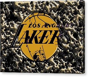 The Los Angeles Lakers B3a Canvas Print by Brian Reaves