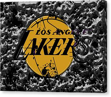 The Los Angeles Lakers B4a Canvas Print by Brian Reaves