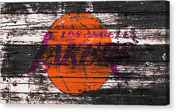 The Los Angeles Lakers W1 Canvas Print by Brian Reaves