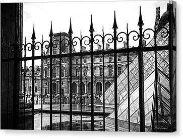 The Louvre Canvas Print by Diana Haronis